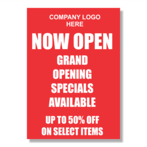 Store Display Signs